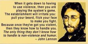 John Lennon non-violence
