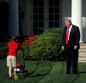 Trump yelling at kid