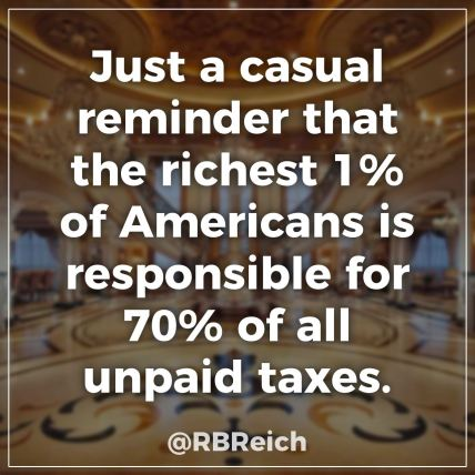 1% 70% of unpaid taxes