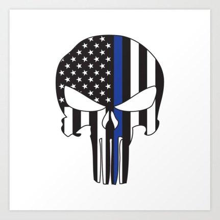 punisher-skull-american-flag-thin-blue-line-prints