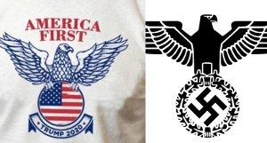 Trump-America-first-vs.-Nazi-Reichsadler